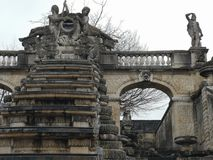 Architectural details of the monument National Domain of Saint Cloud The Great Waterfall in France. The park of Saint-Cloud officially national domain of Saint stock photography