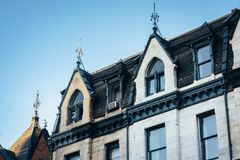 Architectural details in Mount Vernon, Baltimore, Maryland.  royalty free stock photos