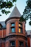 Architectural details in Mount Vernon, Baltimore, Maryland.  royalty free stock image