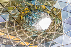 Architectural details of the MyZeil shopping mall in Frankfurt Royalty Free Stock Images