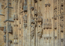 Architectural details of New cathedral in Salamanca, Spain Royalty Free Stock Photo