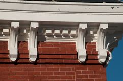 Architectural Details on New England Church Royalty Free Stock Photography