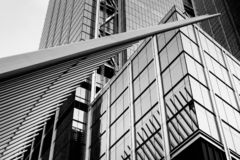 Architectural details at the Oculus, in Manhattan, New York City royalty free stock images