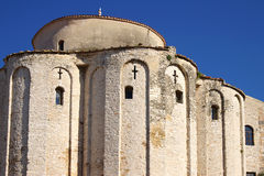 Architectural Details Of A Temple. Zadar, Croatia Royalty Free Stock Photo
