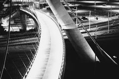 Free Architectural Details Of The Harbor Drive Pedestrian Bridge At N Royalty Free Stock Image - 50311746