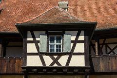 Architectural details of an old house in Bamberg, Germany. Stock Photography