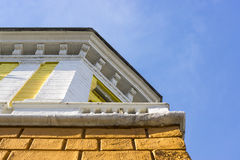 Architectural details of the old house Stock Photo