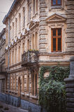 Architectural details of old Lviv buildings. Royalty Free Stock Photo