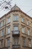 Architectural details of old Lviv buildings Royalty Free Stock Photo