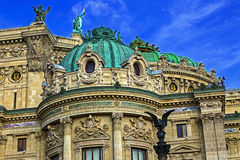 Architectural details of Opera National de Paris. Front Facade Royalty Free Stock Photography