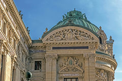 Architectural details of Opera National de Paris Royalty Free Stock Photo