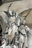 Architectural details of Opera National de Paris: Lyrical Drama Facade sculpture by Perraud Stock Images