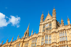 Architectural details of Palace of Westminster in London Royalty Free Stock Images