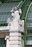 Architectural details of Palmenhaus Vienna Royalty Free Stock Images