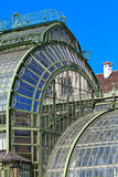 Architectural details of Palmenhaus Vienna Stock Photos