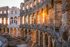 Architectural Details of Pula Coliseum, Croatia Stock Photography