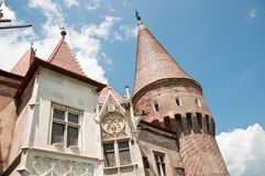 Architectural details at a Romanian stone castle Royalty Free Stock Image