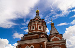 Architectural details of Russian Orthodox Church. Details of the Russian Orthodox Church in Yaroslavl. Chapel of Alexander Nevsky Stock Photography