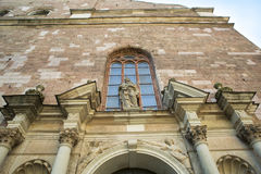 Architectural details of Saint Pyotr's church  - cathedral church of Roman Catholic Diocese of Riga, Latvia Stock Image