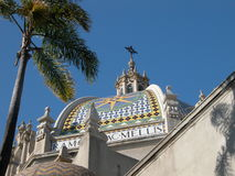 Architectural Details - San Diego CA. The buildings in San Diego's Balboa Park display beautiful architectural details royalty free stock photography