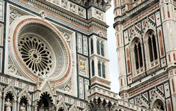 Architectural details on Santa Maria del Fiore cathedral, Firenz Royalty Free Stock Photography