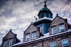 Architectural details of the seminary at Mount Saint Mary's Univ Royalty Free Stock Image