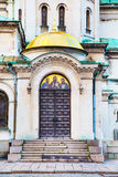 Architectural details of St. Alexander Nevski Cathedral in Sofia, Bulgaria Stock Photography
