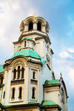 Architectural details of St. Alexander Nevski Cathedral in Sofia, Bulgaria Royalty Free Stock Image