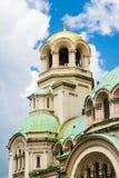 Architectural details of St. Alexander Nevski Stock Photos