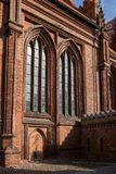 Architectural details of St. Anne`s Church royalty free stock image