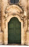 Architectural Details of St. Antonio of Padua Church in Buscemi, Province of Syracuse. Italy royalty free stock image