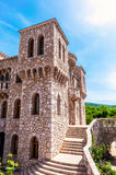 Architectural details of the stone castle in Mediterranean style Stock Photo