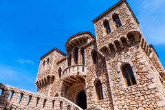 Architectural details of the stone castle in Mediterranean style Stock Images
