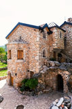 Architectural details of the stone castle in Mediterranean style Royalty Free Stock Photos