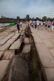 Architectural details of temple angkor wat Stock Images