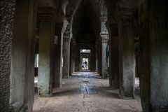 Architectural details of temple angkor wat Stock Photos