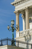 Architectural details of US Capitol building Royalty Free Stock Image