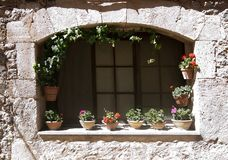 Architectural details in Valldemossa town Stock Photography