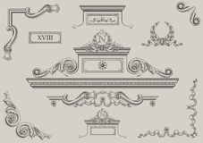 Architectural details. Royalty Free Stock Photography