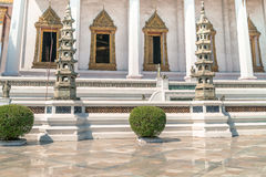 Architectural details of Wat Suthat, royal temple Stock Photos