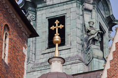 Architectural Details of the Wawel Cathedral in Krakow stock images