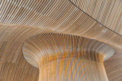 Architectural details of Welsh Assembly building. Wooden planks Stock Images