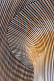 Architectural details of Welsh Assembly building. Wooden planks Royalty Free Stock Images
