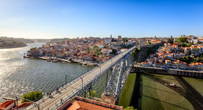 Architectural Dom Luis Bridge at Porto Portugal Royalty Free Stock Image
