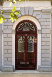 Architectural door detail of thermal Pedras Salgad Stock Photos