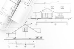 Architectural draw Royalty Free Stock Image