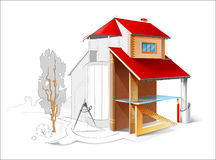 Architectural Drawing. On The White Background Stock Image