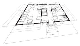Architectural drawing Royalty Free Stock Photos