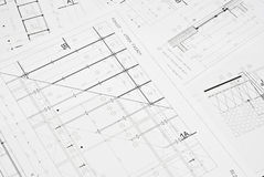 Architectural drawing Royalty Free Stock Photo