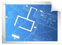 Architectural Drawing. Abstract Architectural Drawing sheet concept Royalty Free Stock Image